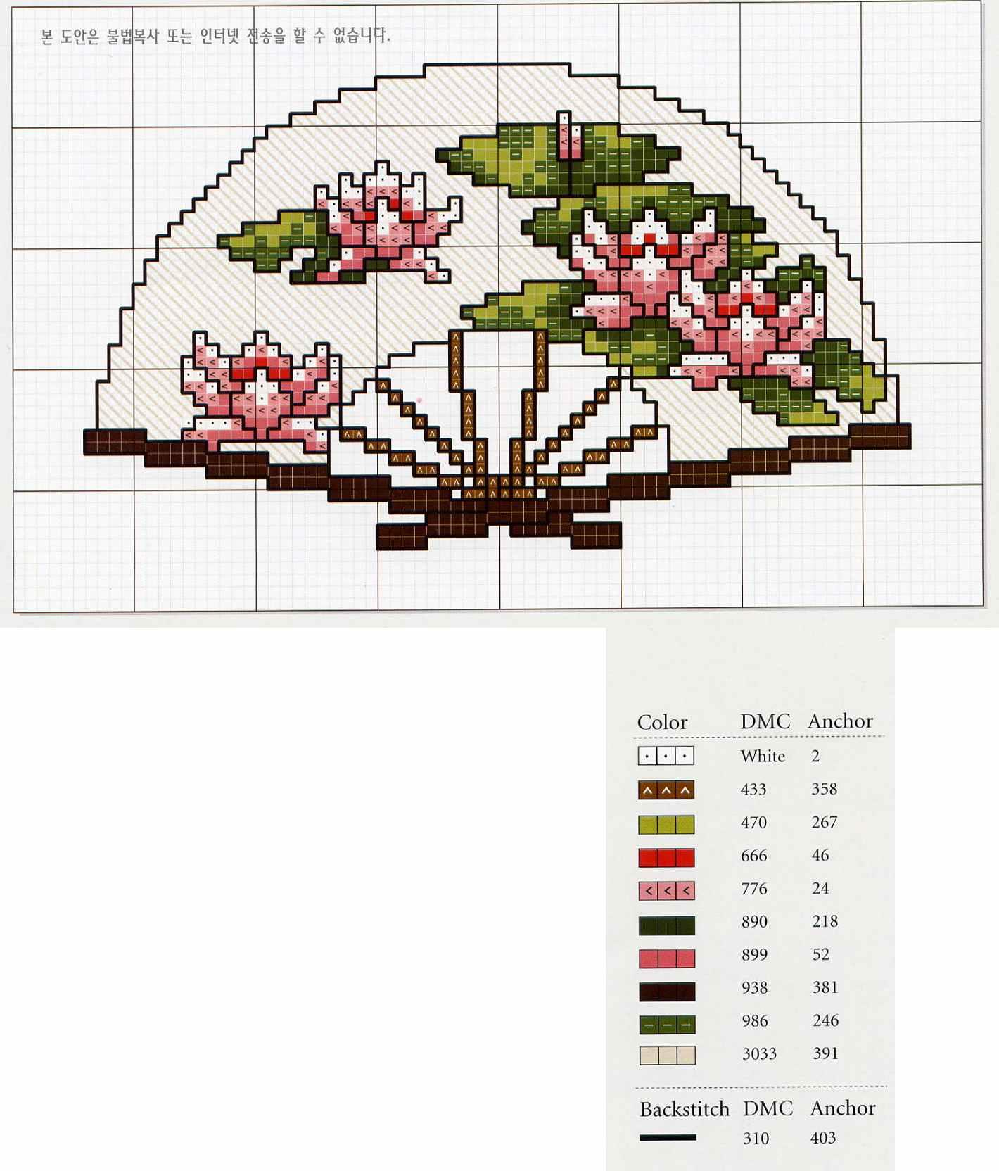 Вышивка крестом японская схемы